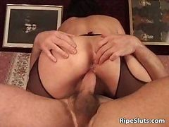Mature Slut In Sexy Black Stockings Part2
