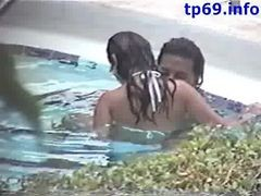 Caught Fucking In The Motel Pool