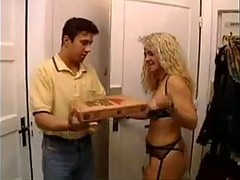 German Mature Fucking With Pizza Boy