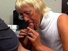 Granny Gives A Blowjob