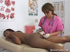 Ebony Female Gets Exam And Anal Exam