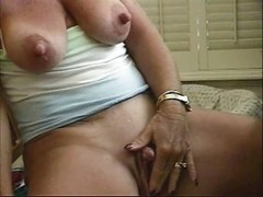 Slut Granny Big Nipples Stroking...
