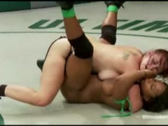 Black And White Girls Wrestling