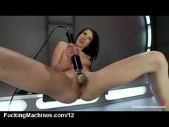Babe Machine Fucked And Pussy Vibes On The Floor