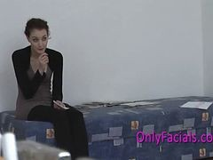 First Facial During Casting For Extremely Shy Czech T...