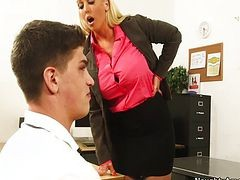 Big Tit Teacher Alura Jenson Rides Student