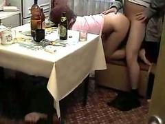 Drunk Schoolgirl Dicked Hard In Hot 3some