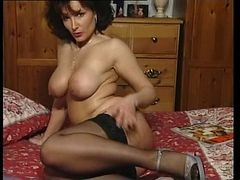 Hot Brunette Busty Milf Teasing In Various Outfits V ...