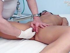 Gloved Doctor Hand Fingering The Girl