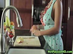 Busty Hot Brunette Housewife